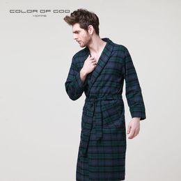 729b9c34f9 Autumn 100% Cotton Men s Bath Robe Long-sleeve Kimono Pajamas For Men  Bathrobe Male Lounge Spa Night Dress Gown Hombre Sleepwear