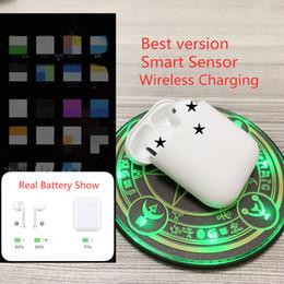Новый 1: 1 Марка 2-й с Беспроводной Зарядкой Чехол Bluetooth Наушники Стерео Музыка Наушники для iPhone смартфон Смартфон W1 С Сенсором от