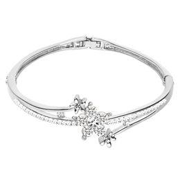 Canada Nouveau Mode Femmes Cristal Fleur Bracelet Bracelets Femme Coréen Bracelets Jolie Fille Femmes Bijoux En Gros Offre