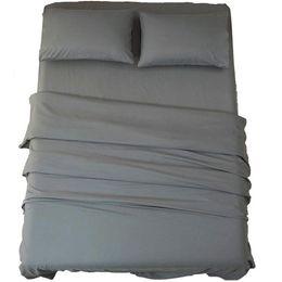travesseiro real Desconto Conjunto de cama maciça folha de capa de edredon macio almofadas suprimentos de cama em casa azul Royal, cinza, cáqui, roxo