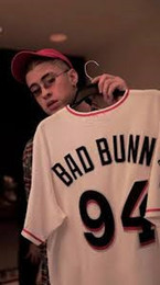 jersey de béisbol de franela Rebajas Maimi Bad Bunny camiseta de béisbol para hombre, color blanco, con la bandera de Puerto Rico, camisa cosida, tamaño S-4XL