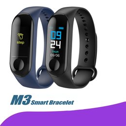 english for kids Coupons - M3 Smart Band Blood Pressure Fitness Tracker Pedometer Heart Rate Monitor Smart Bracelet Wristband For IOS Android Phone