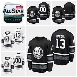2019 All Star Game  13 Mathew Barzal Customize Men Women Youth New York  Islanders Hockey Jerseys Black White Stitched Shirts S-XXXL discount  women s hockey ... b8326d2c2