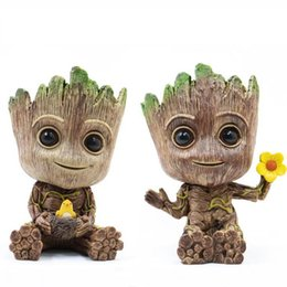 12 vasi Sconti Groot Action Figures 14cm 2 Stili PVC Cartoon Anime Albero Man Doll Pot Decorazione della casa Pennello moda Pot Novità Novità OOA6809