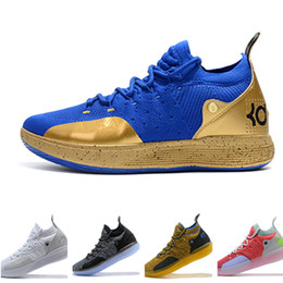 00f0845987cb 2019 New Kevin Durant 11 Basketball Shoes Men KD 11 Gold Championship MVP  Finals Sports training Sneakers Run Shoes Size 7-12