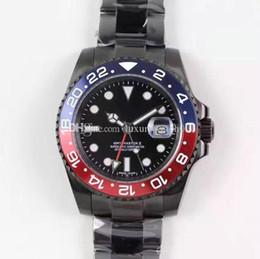 relógio de pulseira chapeada Desconto 2019 top relógios masculinos, pulseira de titânio preto, anel de cerâmica boca, diâmetro da placa 40cm, aço inoxidável automatic mechanica wristwatchl