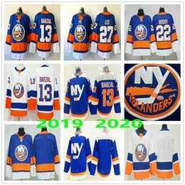 Nova juventude hóquei york on-line-2020 New York Islanders # 13 Mathew Barzal 22 Homens Mike Bossy Tavares 27 Anders Lee alternativo azul Mulher Kids Youth Ice Hockey Jerseys