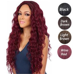 2019 afrikanische amerikanische kostüme 4 Farbe europäischen und amerikanischen beliebten lockigen Perücken lose Wellenfaser synthetische Perücken langes Haar, geeignet für alle Arten von Menschen