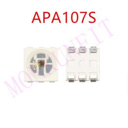 Chip liderado integrado rgb on-line-100pcs APA107S (APA102 Semelhante / APA107) LED Chip 5050 SMD RGB LED Fonte de Luz Integrado Controle Inteligente SOP-6 DC5V DAT CLK
