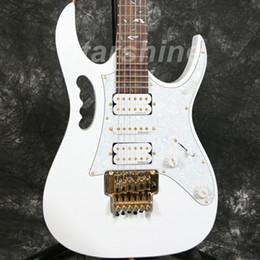 Incrustações de guitarras on-line-Starshine DK-7VW Guitarra Elétrica Floyd Rose Brige Flor Inlay Hardware Ouro Dmarzio Pickups JEM Estilo