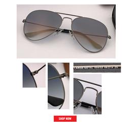 Occhiali da sole mujer online-Hot new Classic Brand Aviation lenti in vetro Gradiente occhiali da sole uomo donna uv400 occhiali da sole Maschio 58mm 62mm lens gafas de sol mujer occhiali da sole