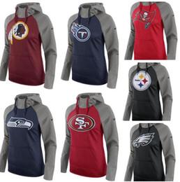 Titã hoodie on-line-Orleans Filadélfia Pittsburgh Francisco Tennessee Mulheres Titãs 49ers Steelers Eagles Saints Pullover Desempenho Moletom Com Capuz