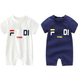 2019 felpe con cappuccio Pagliaccetti per bambini INS Moda Pagliaccetto per neonato Neonato Stampato Tute a maniche corte Tute Ragazzi Pagliaccetti casual per ragazze