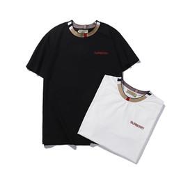 Estilo de camisa da camisa on-line-Homens de design T camisa mais recente novo estilo de marca macio em torno do pescoço mangas curtas design T de luxo própria T design simples camisa de marca