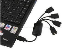 laptop rápido Desconto Premium Black Alta Velocidade 4 Portas USB 2.0 Octopus Hub Splitter para PC Laptop 200 pcs DHL Transporte Rápido