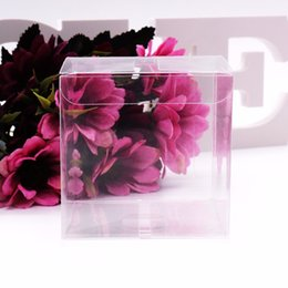 print squared paper Promo Codes - 50Pcs lot Transparent Clear Gift Candy Box Square PVC Chocolate Bags Boxes Wedding Favor Party Event Decoration caja de dulces C18112701