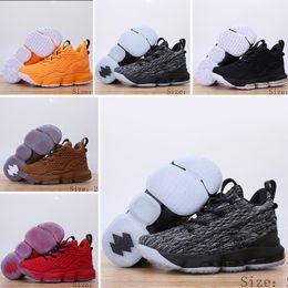 sports shoes 6d212 eaa2a garçons lebron Promotion NIike Lebron XV EP 15 bébé fille garçons Enfants  Respirant Basketball Sneaker Designer