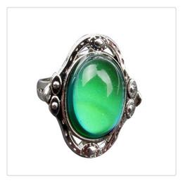dimond hochzeit ringe Rabatt Gypsy Boho Ring einstellbar ovale Farbwechsel Stimmung Ring Emotion Gefühl veränderbar Ring Temperaturregelung Schmuck Unisex
