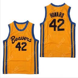 a7d195a4ce78 Men s Teen Wolf Beavers 42 Scott Howard 100% Stitched Movie Basketball  Jerseys S-XXL
