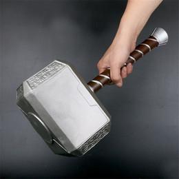 lanterne della stella della carta all'ingrosso Sconti 44 cm Thor's Hammer Cosplay 1: 1 Thor Thunder Hammer figurine weapon Modello di ruolo regalo di un bambino in un gioco di sicurezza di film giocattolo materiale PU