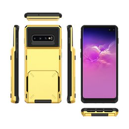note cards set Coupons - Creative Magnetic Phone Case For Samsung Galaxy S9 Plus Note 9 Cover Protective Set Back Card Slot Wallet Case Shell For S10