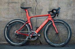 Manubrio in carbonio rosso online-Coppia ruote NJRD Colnago Concept Carbon Matte complete bici 50MM r7010 DIRECT MOUNT colnago sella manubrio