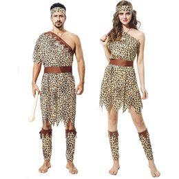 terno dos indianos dos homens Desconto Partido Cosplay Traje Do Dia Das Bruxas Tema 7 Estilo Original Savage Indígena Leopardo Indiano Roupas Set Adulto Homens Mulheres Partido Suit 06