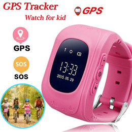 Pulseira gps para crianças on-line-Q50 Criança Relógio Inteligente para Crianças Pulseira Rastreador GPS LBS SOS Inteligente Pulseira Pulseira para Apple Android Celulares com Caixa