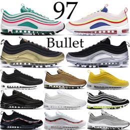 best sneakers fae20 642ac Nike Air Max 97 South beach 97 bullet chaussures de course hommes femmes  UNDFTD blanc noir argent métallique doré velours côtelé blanc triple noir  97s air ...
