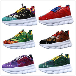 lightweight hiking shoes for men Promo Codes - Wholesale Classic Luxury Chain Reaction Brand For Men Women Designer Sneakers luxury Shoes Lightweight Rubber Designer Sneakers Size 36-45