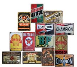 2019 royaume-uni voitures Garage Gilmore Shell Huile De Moteur Rétro Tustic signes en étain de Mur Art Vintage Étain Affiche Café Boutique Bar Home Decor Métal Peinture YD0239