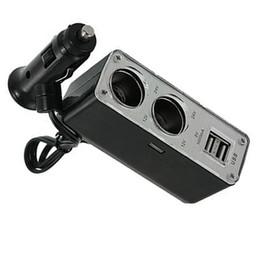 eu plug mini cargador de coche Rebajas Poder encendedor del coche ette Socket 2 Adaptador Splitter Camino con 2 puerto USB de alta potencia estable para el uso del automóvil Styling