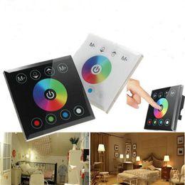 schalttafelschalter Rabatt RGB / RGBW An der Wand montierter Touchscreen-Controller mit Glasdimmschalter Controller für den DC12V-24V-RGB-Streifen-LED-Controller