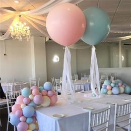 2019 decorações de balão de doces 36 polegadas 10 pçs / lote Grande Macaron Latex Balão de Balão De Látex De Aniversário De Casamento Festa de Aniversário Decoração Do Chuveiro Do Bebê desconto decorações de balão de doces