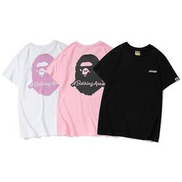 2019 Mais Novos Melhores Vendedores de Verão lu xury Homens Marca APE camuflagem impressão T-shirt dos homens da moda Top Designer Alfabeto Bordado tshirt716 de