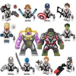 rocket baby toy Promo Codes - Marvel Avengers Endgame Super Heroes 12 heroes Thanos Hulk Captain America Ant-man Building Blocks Rocket Tony Stark Bricks baby Kids Toys