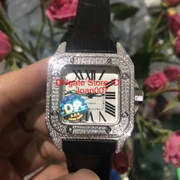 2019 спортивные унисекс механические часы Роскошные Мужские Часы 500 XL Часы со Льдом Роскошные Часы с Бриллиантами Автоматическое Механическое Механическое Серебристый Корпус мужские Спортивные Оригинальная Застежка 36 мм дешево спортивные унисекс механические часы