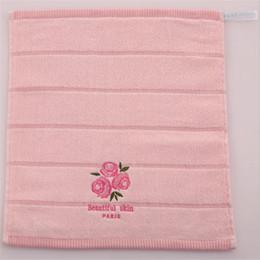 2019 baby rosa badetücher Rosa nettes trockenes Badetuch Rosa Rose Duft 70X140cm 100% Baumwolle Baby Gesicht Hand Waschlappen weiches schnell besticktes Handtuch X051 günstig baby rosa badetücher