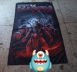 2019 ленточные баннеры Флаг Mayhem Band, Death Metal, полиэстер 90 * 150см, цифровая печать, Black Metal баннер Mayhem, Slaughter Of Dreams дешево ленточные баннеры