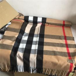 A marca clássica do lenço da caxemira da manta 2019 imprimiu o xaile de caxemira, tamanho longo da franja 200 * 70 cm, de
