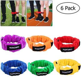 Feldspiel online-WINOMO 6pcs 3 Legged Race Bands elastische Krawatte Seilgurte für Kinder Legged Race Game Karneval Field Day Hinterhof Relay Game