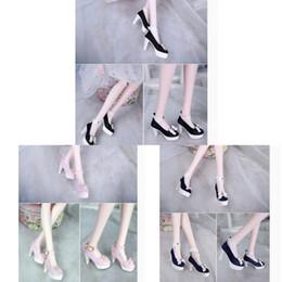 Moda Mini Bowknot Scarpe tacco alto per 1: 3 BJD SD Dollfie Doll Party Accessories da
