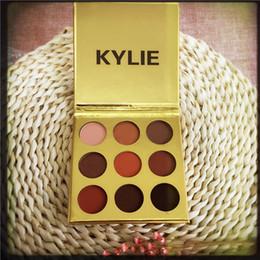 in magazzino Ombretto Kylie dell'ombretto della polvere dell'erogatore urgente diretto della fabbrica Oro mini Ombretto di compleanno di 9 colori DHL libera il trasporto da