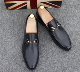 billige keil hochzeit schuhe Rabatt Herrenschuhe Marke Echtes Leder Lässig Fahren Oxfords Wohnungen Schuhe Herren Müßiggänger Mokassins Italienische Schuhe für Männer 37-45