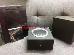 Grandes bolsos negros online-Caja de reloj negra de lujo Caja de reloj suizo con papeles y caja de relojes de bolsos para Hub Big Bang