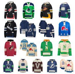 sudadera con capucha estrella azul Rebajas Sudadera con capucha de hockey personalizada Pullover Tampa Bay Lightning Minnesota North Stars Quebec Nordiques Arizona Coyotes Vancouver Canucks St. Louis Blues