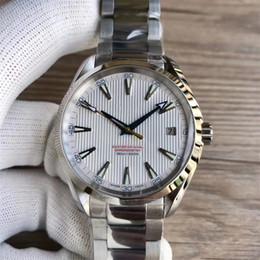 41.5mm Movimento automático de Aço Inoxidável Pulseira Do Aqua Terra 150 m Mestre RELÓGIO DE HOMEM relógio de Pulso supplier bracelet wristwatches de Fornecedores de pulseira de relógios de pulso