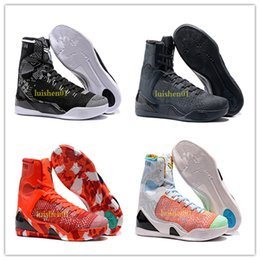 Pas cher vente kobe 9 haut tissage BHM / Pâques / Chaussures de basketball de qualité supérieure pour les hommes de qualité KB 9s formateurs baskets de sport taille 40-46 x10 ? partir de fabricateur