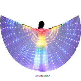 Deutschland LED-Isis-Flügel Bauchtanz-LED leuchten Flügel Performance-Kostüm-Partei-Verein-Abnutzungs-LED Tanzzubehör mit Stock Versorgung