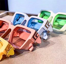 occhiali da sole decorativi Sconti Nuovi occhiali da sole alla moda milionario 96006 montatura di colore quadrato vetri decorativi d'avanguardia all'aperto colorati estivi di alta qualità